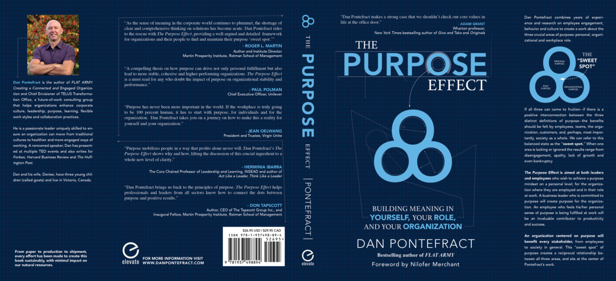 Full Book Jacket Cover Released for The Purpose Effect