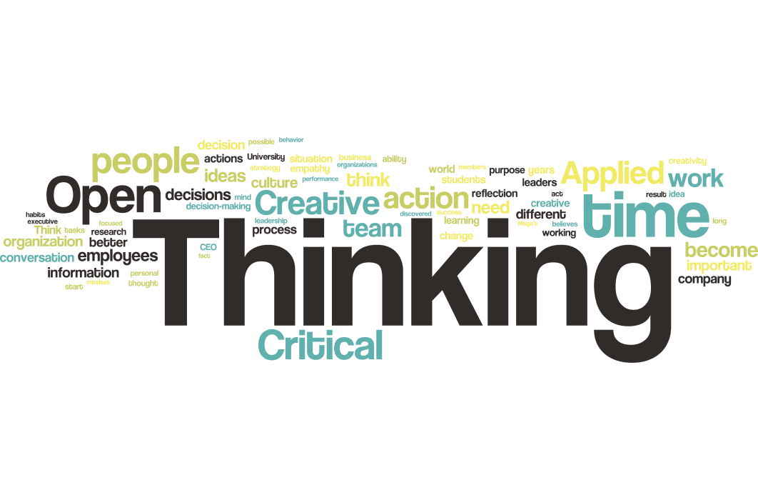 Word Cloud: OPEN TO THINK