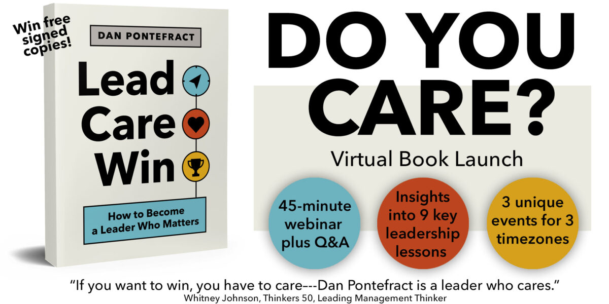 Announcing Three Free Virtual Book Launch Events for LEAD. CARE. WIN.